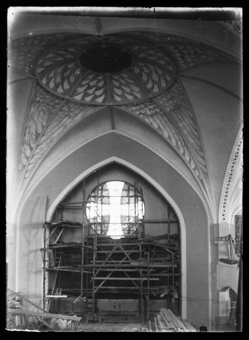 Tampereen Johanneksen kirkko rakenteilla