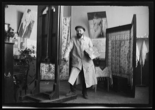 Hugo Simbergin ateljee Pariisissa
