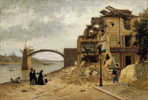 Asnièresin silta Pariisin piirityksen jälkeen 1871