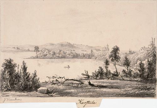 Karstula, originaalipiirustus teokseen Finland framställdt i teckningar