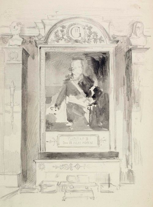 Bredan muotokuva Kustaa III:sta, luonnos