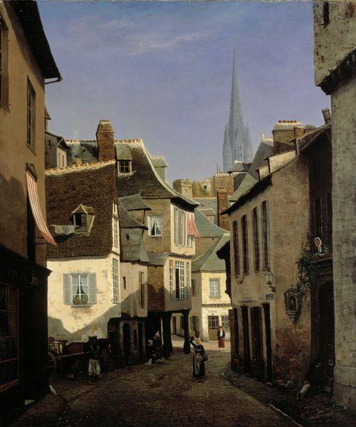 Katu Quimperissä Bretagnessa