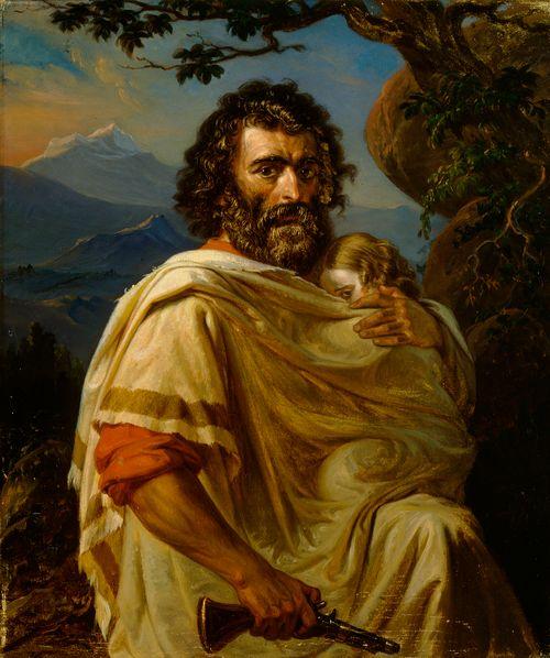 Italialainen mies lapsi käsivarrellaan