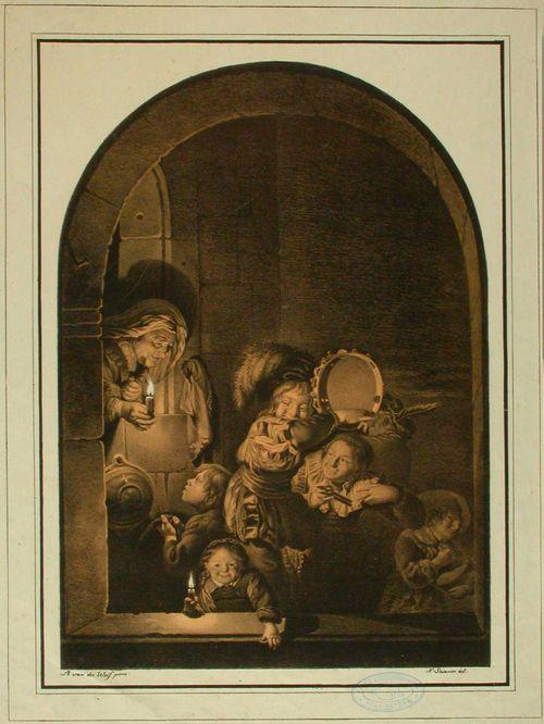 Soittavia lapsia kynttilävalaistuksessa