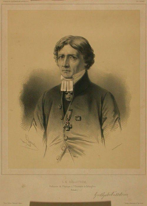 Professori G.G. Hällströmin muotokuva, Pierre Fr. Giraudin mukaan