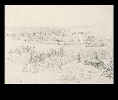 Näköala yli joen ja kylän