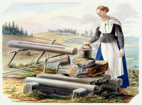 Nainen kaivolla