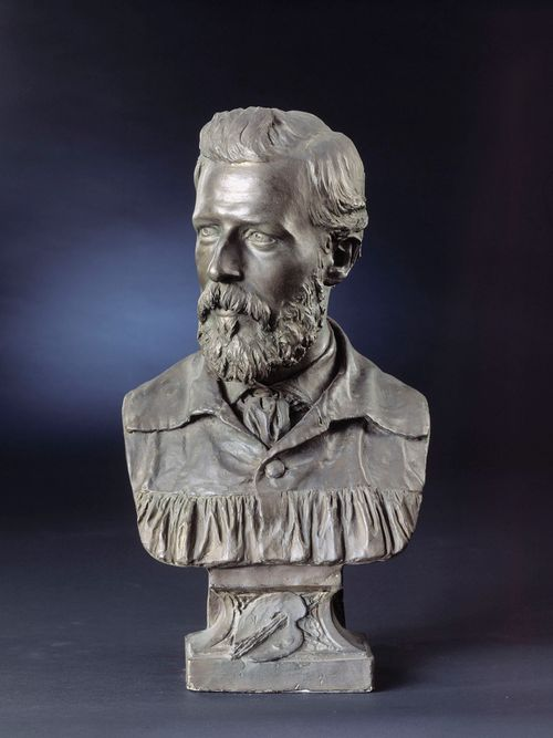 Taidemaalari Pietro Krohnin rintakuva