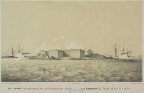 Englantilaiset sotalaivat pommittavat Kustaanmiekkaa 10.5.1854