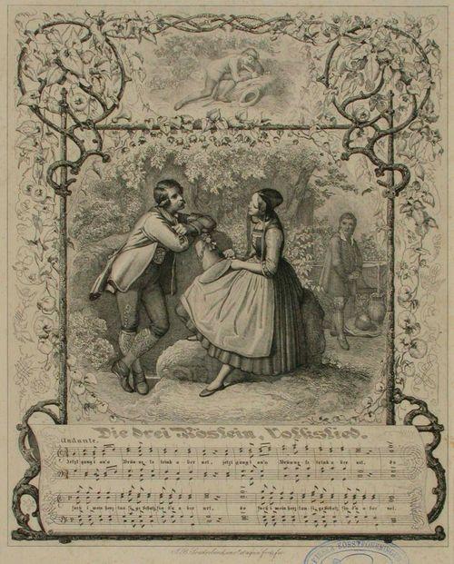 Runokuvitus, Die drei Röslein, Volkslied