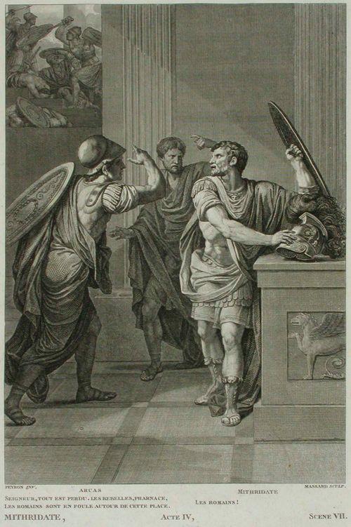 Kohtaus Racinen Mithridateen neljännen näytöksen seitsemännestä kohtauksesta