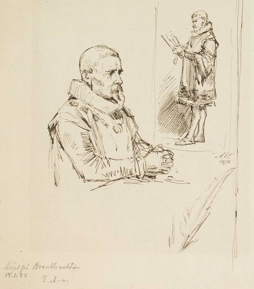 Kaksi miestä 1600-luvun puvussa