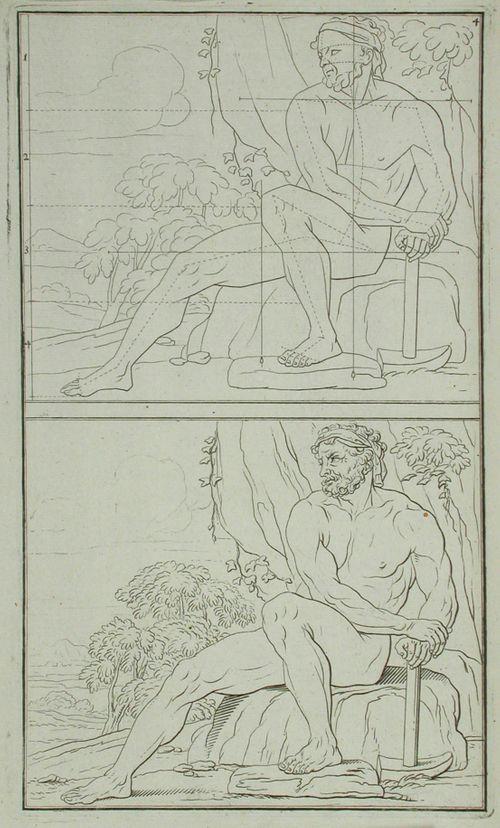 1. alastomia figureja piirustuksen opetusta varten