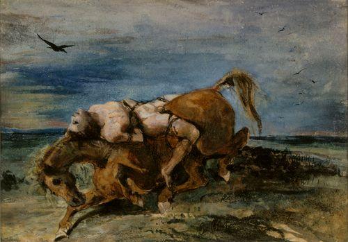 Mazeppa kuolevan hevosen selässä