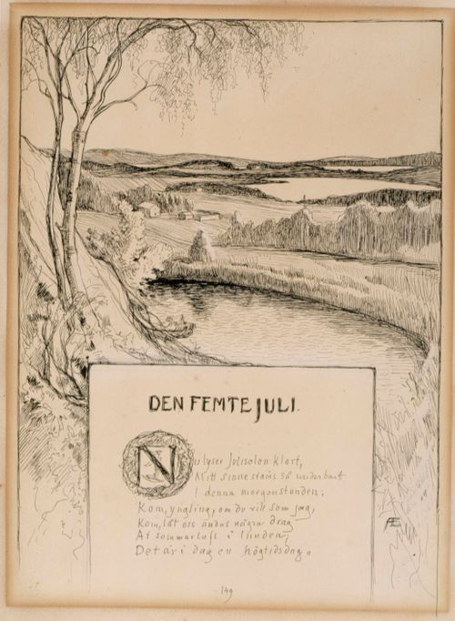 Title Page for the Poem The Fifth of July