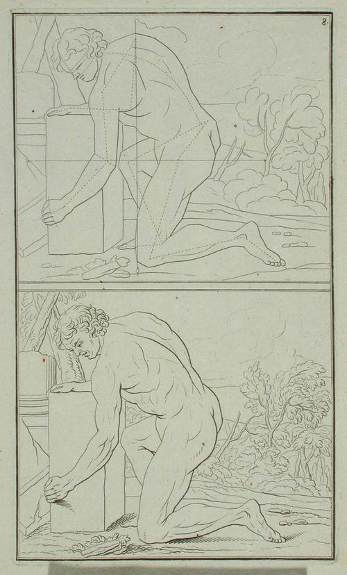 5. alastomia figureja piirustuksen opetusta varten