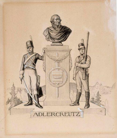 Adlercreutz-runon alkukuva, Vänrikki Stoolin tarinain kuvitusta
