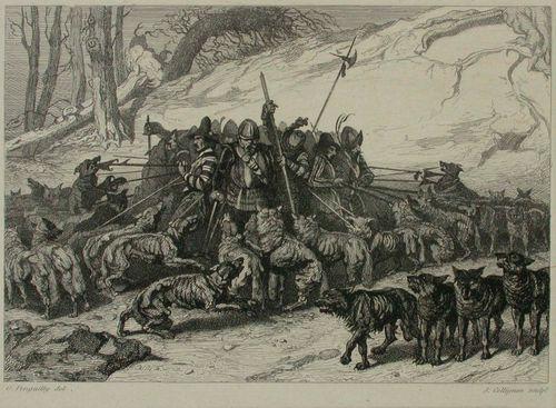 Sudet ahdistavat 1600-luvun sotilaita
