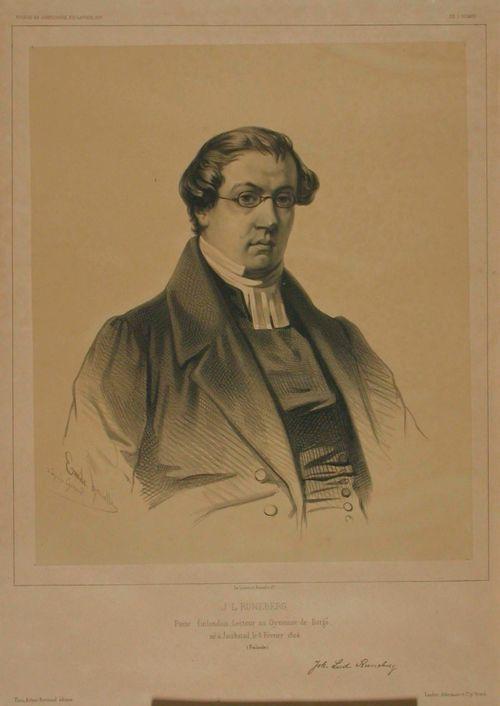 J.L. Runebergin muotokuva, Pierre Fr. Giraudin mukaan