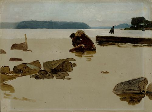 Haikon selkä, harjoitelma teokseen Leikkiviä poikia rannalla