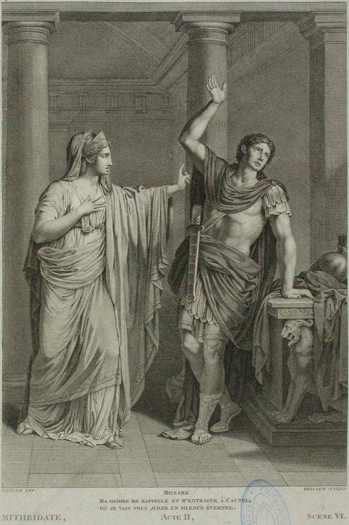 Kohtaus Racinen Midridateksesta II näytös, VI kohtaus