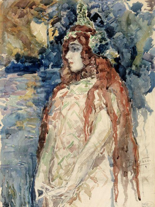 Meren prinsessa (Nadezhda Zabela-Vrubel Rimski-Korsakovin oopperassa Sadko), luonnos