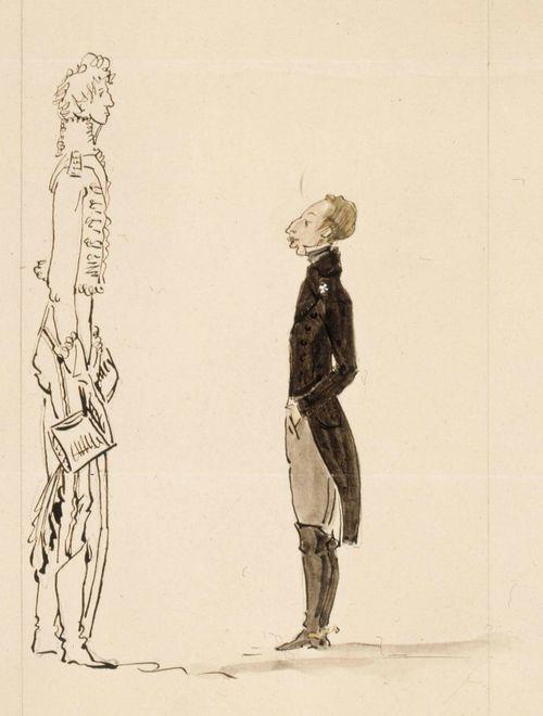 Karikatyyri Kustaa IV Adolfista