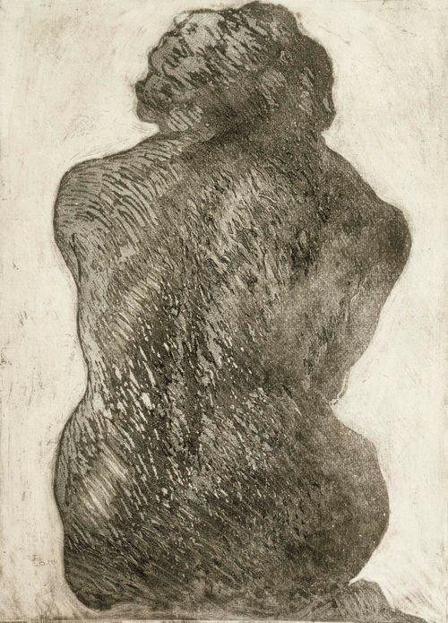 Naisen selkä (istuva nainen)