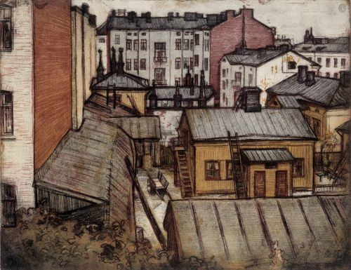 Näkymä Bernhardinkadun asunnosta