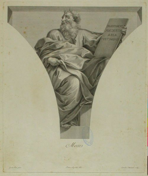 Mooses, Quirinali-kappelin maalauksen mukaan