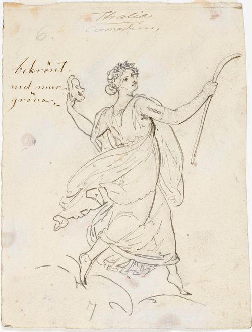 Thalia, luonnos teatterin kattomaalaukseen