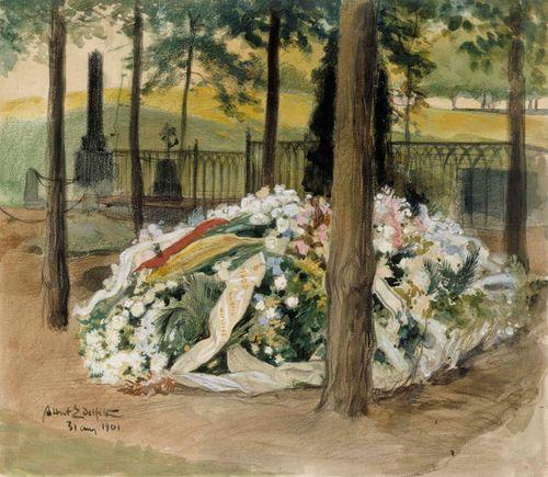 Alexandra Edelfeltin kukin koristeltu hauta