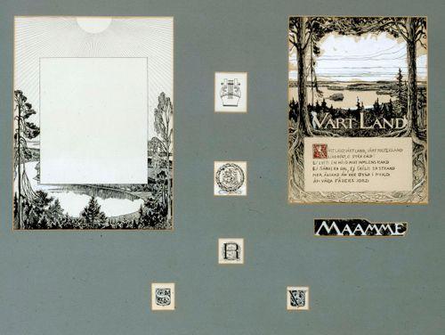 Takakannen somiste, originaalipiirustus Vänrikki Stoolin tarinain kuvitukseen