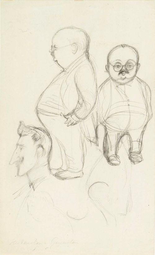 Kolme karikatyyria W. Haidenstamista ja Geijerstamista
