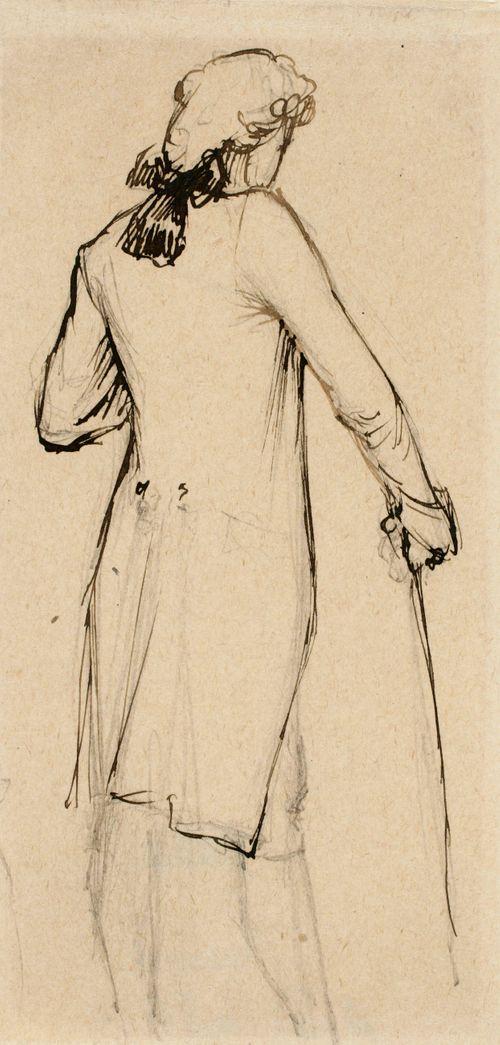 Mies 1700-luvun puvussa
