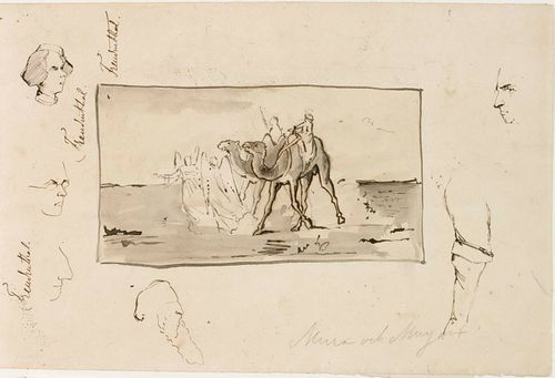 Kuvitusta Topeliuksen satuun Mirza ja Mirjam