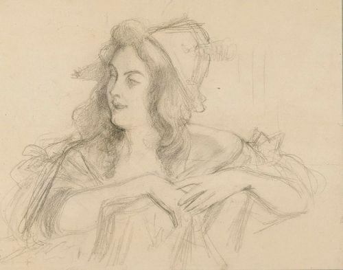 Istuva nainen, harjoitelma
