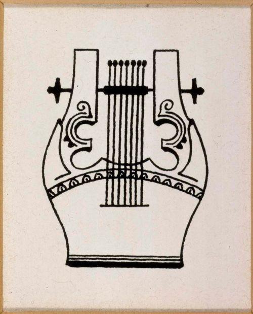 Adlercreutz-runon loppuvinjetti, originaalipiirustus Vänrikki Stoolin tarinain kuvitukseen