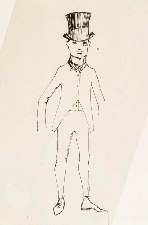 Karikatyyri hattupäisestä miehestä