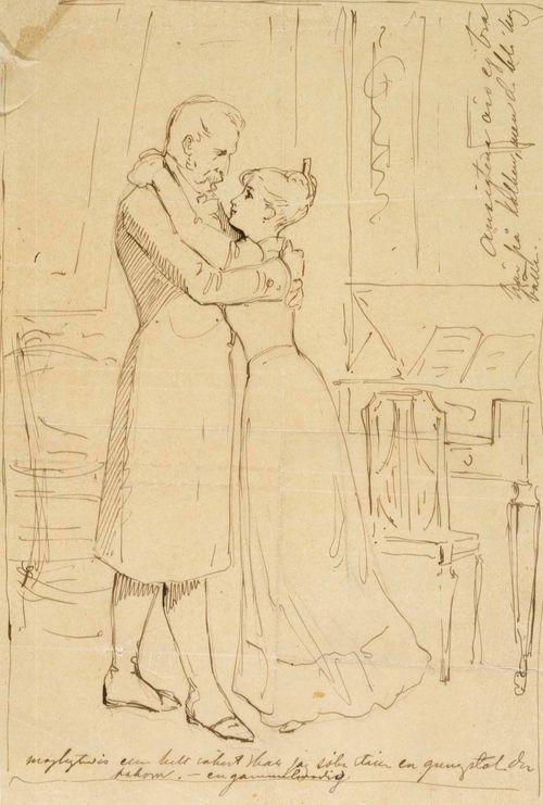 Majuri ja neiti Augusta (Jouluilta), luonnos