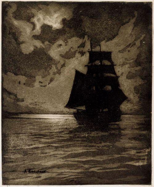 Laiva kuutamossa