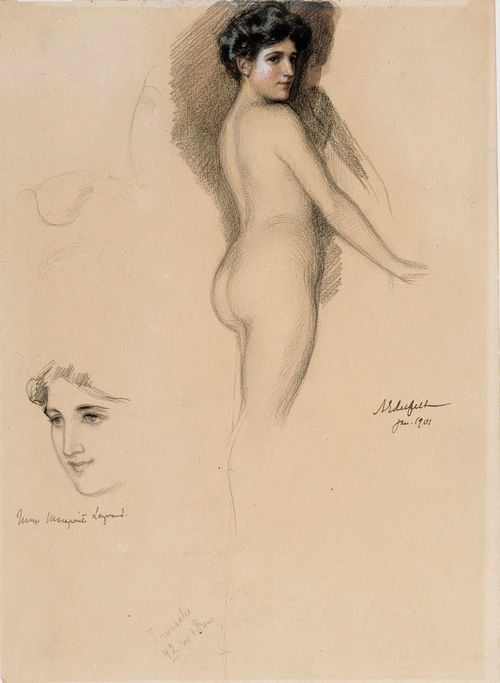 Mme Marguerite Legrand, polvikuva ja kasvot