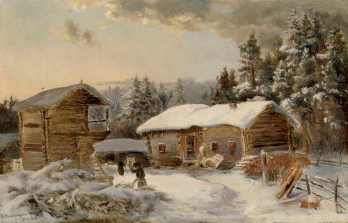 Hämäläinen maalaistalo, kopio Hjalmar Munsterhjelmin mukaan