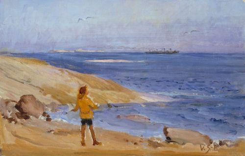 Antti kallioisella rannalla