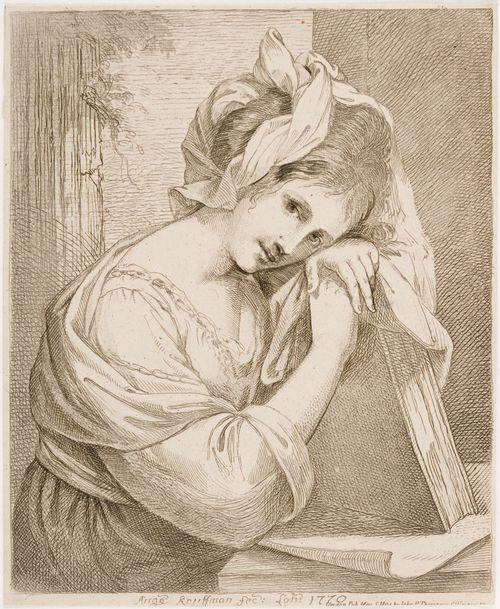 Kirjaan nojaava nuori nainen