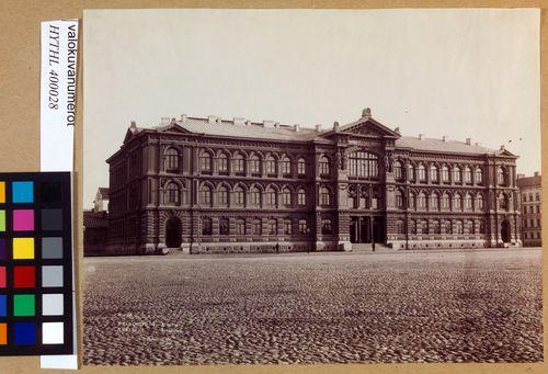 Ateneum-rakennus 1890, pääjulkisivu
