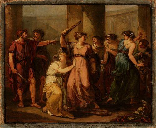 Odysseus löytää Akhilleuksen Lykomedeksen tyttärien joukosta