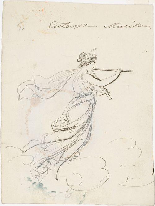 Euterpe, luonnos teatterin kattomaalaukseen