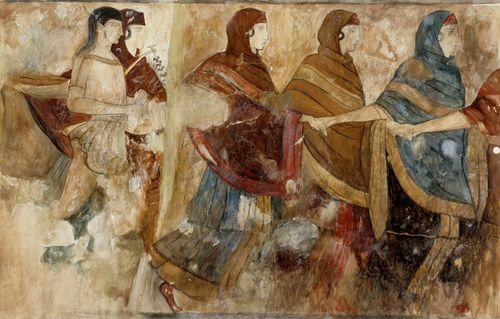 Tanssi, kopio Napolissa olevasta antiikin freskosta