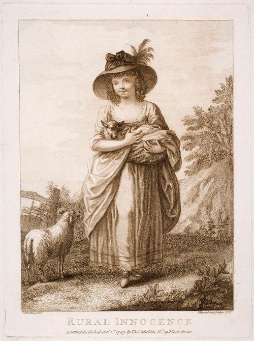 Tyttö ja karitsa - Rural innocence